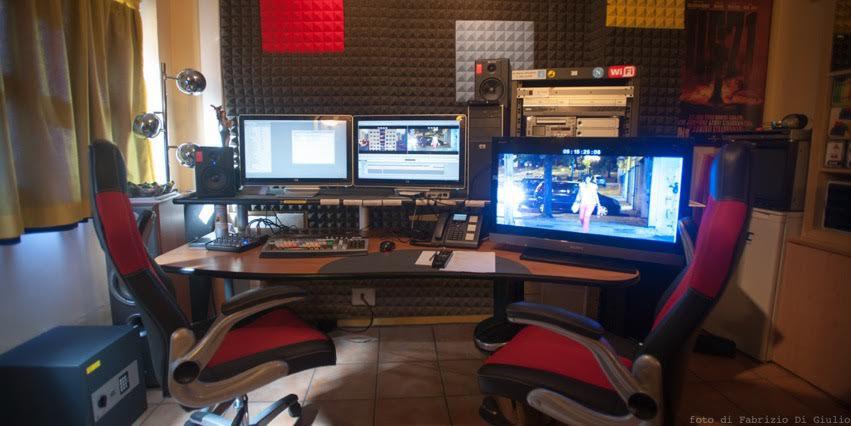 La nostra sala di post-produzione. a Cinecittà Studios.